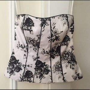 WHBM Corset Floral Top